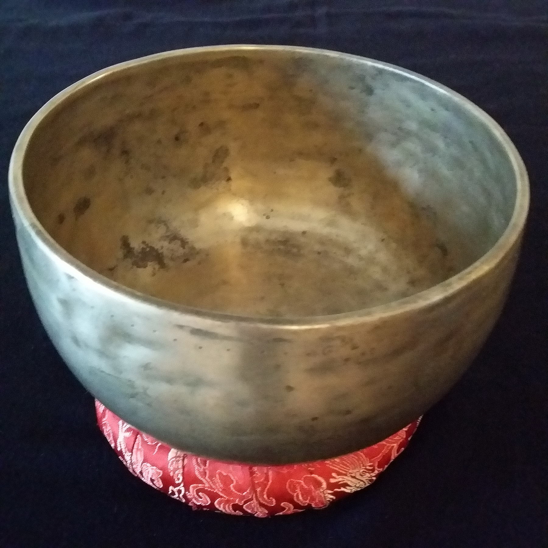 "7"" 'B' Crown Chakra Authentic Antique Old Tibetan Singing Bowl"